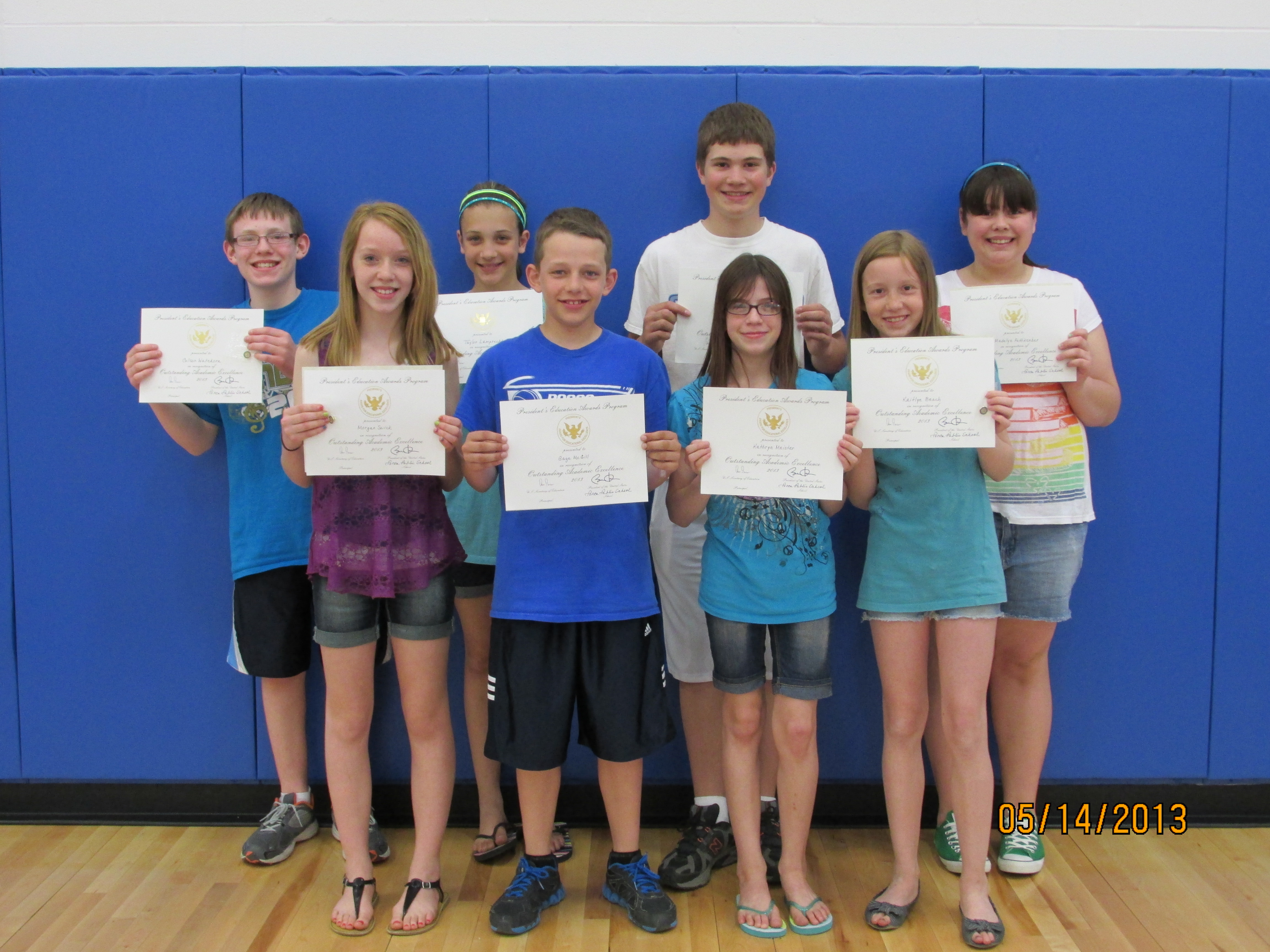 Ponca School - Ponca Sixth Graders Earn Presidential Education Award